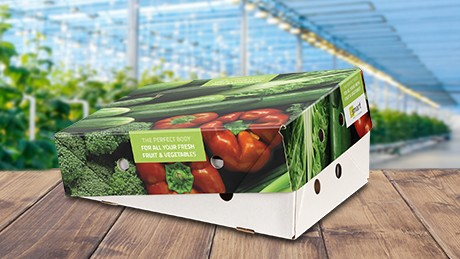 More fruit and vegetables being packed in solid cardboard boxes