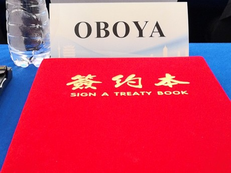 Oboya signs major strategic cooperation agreement in China