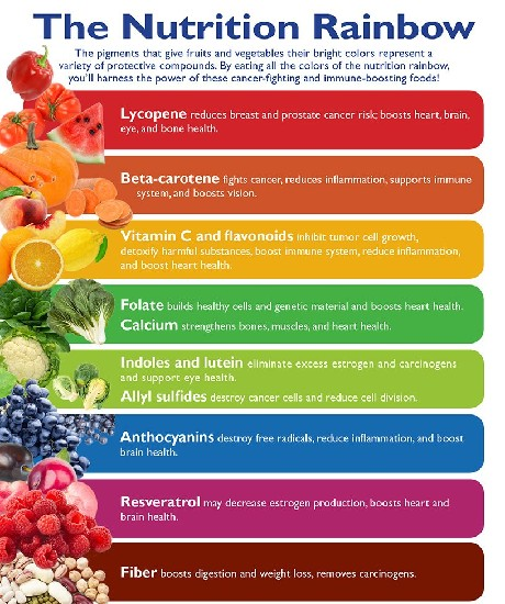 The Colour Of Healthy Fruits And Vegetables