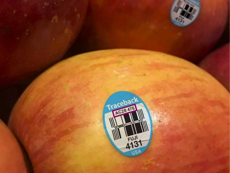 Produce traceability on patented labeling system