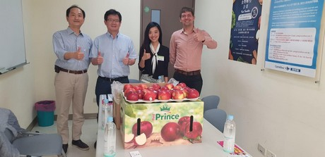 German apples reach the Taiwanese market for the first time