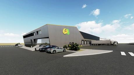 Construction of new logistics platform Frutorbel started