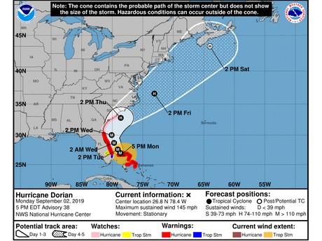 US: Miami International Airport no longer in Dorian\'s path
