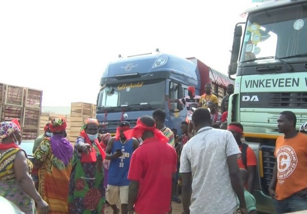Image result for vehicle carrying tomato ghana