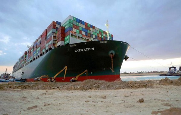 Suez Canal: Ever Given container ship shifted from shoreline