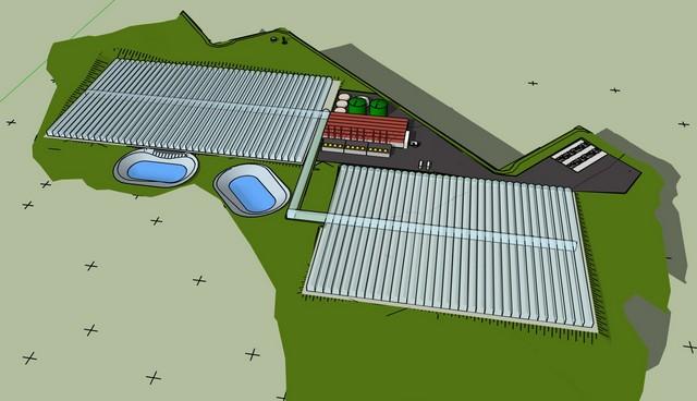 5 hectare semi-closed hydroponic greenhouse
